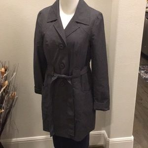 Ambition trench coat just above knee or mid thigh